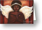 Angel Pastels Greeting Cards - Angel Greeting Card by Alga Washington