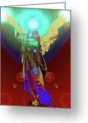 Engill Mixed Media Greeting Cards - Angel of Harmony No. 08 Greeting Card by Ramon Labusch