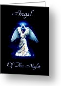 Heaven Digital Art Greeting Cards - Angel of the Night Greeting Card by Garry Staranchuk
