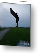 Roberto Edmanson-harrison Greeting Cards - Angel of the North Greeting Card by Roberto Edmanson-Harrison