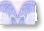 Archangel Greeting Cards - Angel Wings Greeting Card by Christopher Gaston