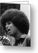 Civil Rights Greeting Cards - Angela Davis (1944- ) Greeting Card by Granger