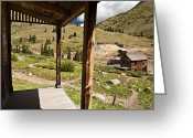 Rural Decay  Digital Art Greeting Cards - Animas Forks Crosshatch Greeting Card by Melany Sarafis