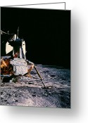 Lunar Photo Greeting Cards - Apollo 14 Lunar Lander Greeting Card by Nasa