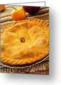 Autumn Season Greeting Cards - Apple pie Greeting Card by Elena Elisseeva