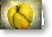 Nourishment Greeting Cards - Apple textured Greeting Card by Bernard Jaubert