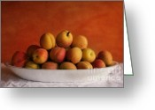 Yellow Greeting Cards - Apricot Delight Greeting Card by Priska Wettstein
