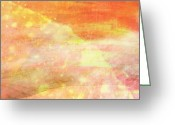 Creme Greeting Cards - Apricot Mist Greeting Card by Maria Eames