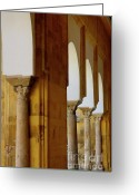 Great Mosque Greeting Cards - Arches of the Patio de los Naranjos in the Cathedral of Cordoba Greeting Card by Sami Sarkis
