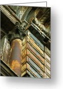Urbano Greeting Cards - Architectural Patina Greeting Card by Anahi DeCanio