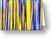 Gold Lame Painting Greeting Cards - Art abstract work Greeting Card by Odon Czintos