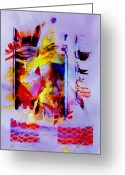 Brushes Digital Art Greeting Cards - Art Days Greeting Card by Ron Jones