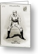 Philadelphia Phillies Photo Greeting Cards - Arthur Irwin (1858-1921) Greeting Card by Granger