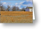 Colonial Scene Greeting Cards - Artist in Field Greeting Card by William Jobes