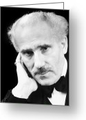 Bowtie Greeting Cards - Arturo Toscanini Greeting Card by Granger