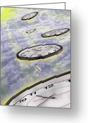 Puffy Greeting Cards - As Time Goes By Greeting Card by Mike McGlothlen