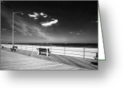 Park Benches Greeting Cards - Asbury Benches Greeting Card by John Rizzuto