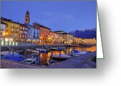 Christmas Lights Greeting Cards - Ascona Greeting Card by Joana Kruse