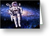 Astronaut Digital Art Greeting Cards - Astronaut Greeting Card by Dale Jackson
