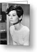 Film Still Greeting Cards - Audrey Hepburn (1929-1993) Greeting Card by Granger