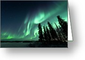 Star Greeting Cards - Aurora Borealis Greeting Card by Michael Ericsson
