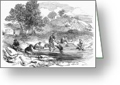 Gold Rush Greeting Cards - Australian Gold Rush, 1852 Greeting Card by Granger