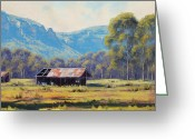 Oi Greeting Cards - AUSTRALIAN LANDSCAPE Lithgow  Greeting Card by Graham Gercken