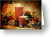 Thanksgiving Art Greeting Cards - Autumn Still Life Greeting Card by Stephanie Frey