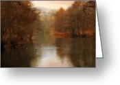 November Sunset Greeting Cards - Autumns Ending Greeting Card by Jessica Jenney