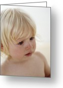 Tearful Greeting Cards - Baby Girl Greeting Card by Ian Boddy
