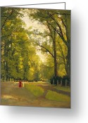 Contemplative Painting Greeting Cards - Backs of the Colleges Cambridge Greeting Card by Cyrus Johnson
