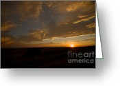 Constellations Greeting Cards - Badlands Sunset Greeting Card by Chris Brewington