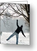 Walking Tightrope Greeting Cards - Balance Greeting Card by Andrew  Michael