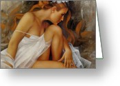 Erotica Painting Greeting Cards - Ballerina Greeting Card by Arthur Braginsky