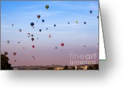 Balloon Fiesta Greeting Cards - Balloon Fiesta Greeting Card by Angel  Tarantella