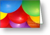 Fun Greeting Cards - Balloons Background Greeting Card by Carlos Caetano