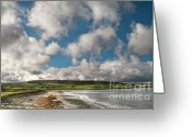 Mayo Greeting Cards - Ballycastle Bay Greeting Card by Marion Galt