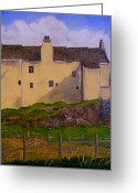Houses Posters Greeting Cards - Balnakeil House  Durness Greeting Card by Dawn Noble