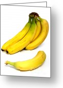 Food And Beverage Greeting Cards - Bananas Greeting Card by Photo Researchers, Inc.