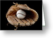 Sports Glass Greeting Cards - Baseball Greeting Card by Felix M Cobos