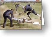 Umpire Greeting Cards - Baseball Game, 1885 Greeting Card by Granger