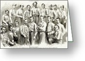 Sports Greeting Cards - Baseball Teams, 1866 Greeting Card by Granger