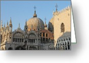 Byzantine Photo Greeting Cards - Basilica San Marco Greeting Card by Bernard Jaubert