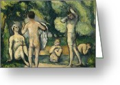 Nudes Greeting Cards - Bathers Greeting Card by Paul Cezanne