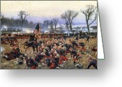 Men Greeting Cards - Battle Of Fredericksburg Greeting Card by Granger