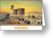 Cemetery Gate Greeting Cards - Battle Of Gettysburg, 1863 Greeting Card by Granger