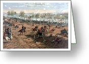 North Painting Greeting Cards - Battle of Gettysburg Greeting Card by War Is Hell Store