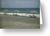 Sun Umbrella Greeting Cards - Beach Greeting Card by Joana Kruse