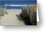 Sea Oats Digital Art Greeting Cards - Beach Greeting Card by Paulette  Thomas