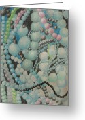 Jewelery Jewelry Greeting Cards - Beads Greeting Card by Diane montana Jansson
